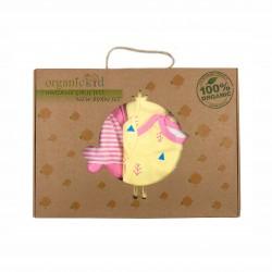 Бебешки комплект за изписванеOrganic Kid от 7 части в розово и жълто с апликации за момичета. - 10235-018 - view 9