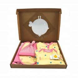 Бебешки комплект за изписванеOrganic Kid от 7 части в розово и жълто с апликации за момичета. - 10235-018 - view 8