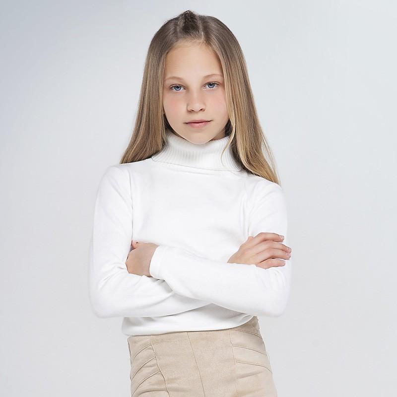 Основен трикотажен пуловер Mayoral с висока яка за момиче - 345-021 - view 1
