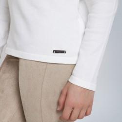 Основен трикотажен пуловер Mayoral с висока яка за момиче - 345-021 - view 2