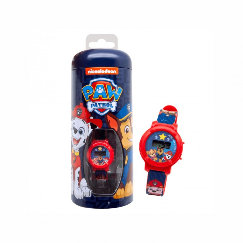 Комплект електронен часовник и метална касичка Paw Patrol (Пес Патрул) за момчета - di2229PW - view 1