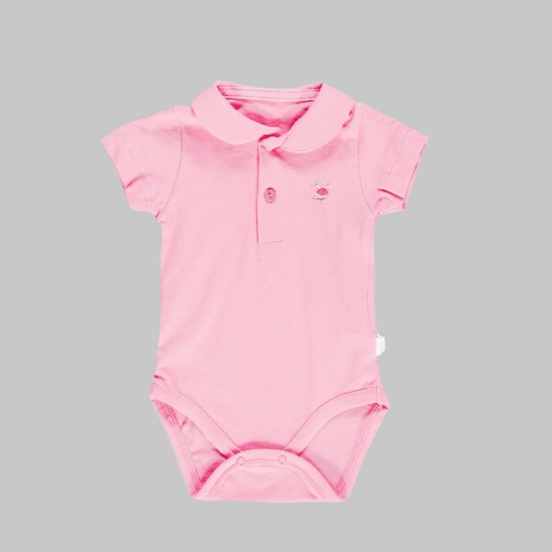 Боди Bebetto с къс ръкав за бебе момиче - K2429 pink - view 1