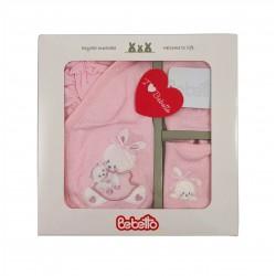 Бебешки комплект Bebetto от 5 части в розово за момичета. - Z667 - view 2