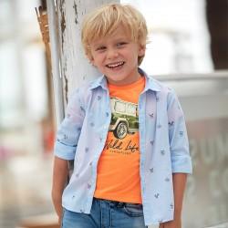 Риза Mayoral с дълъг ръкав и щампи за момче. - 3176-010-110 - view 1