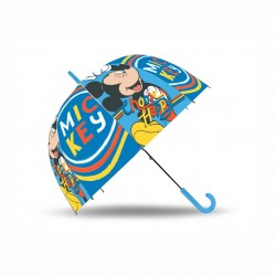 Детски прозрачен чадърMickey Mouse 92см. за момчета - WD20984 - view 1