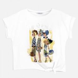 Тениска Mayoral с къс ръкав и възел за момиче. - 6020-014-152 - view 4