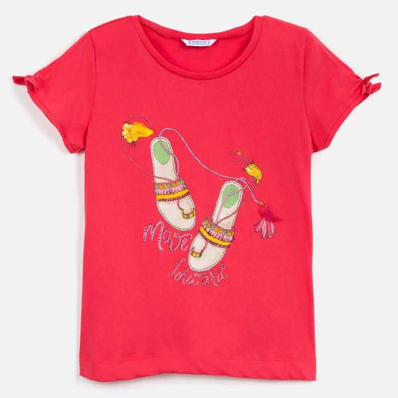 Тениска Mayoral с къс ръкав и рисунка сандали за момиче. - 6018-028-140 - view 1