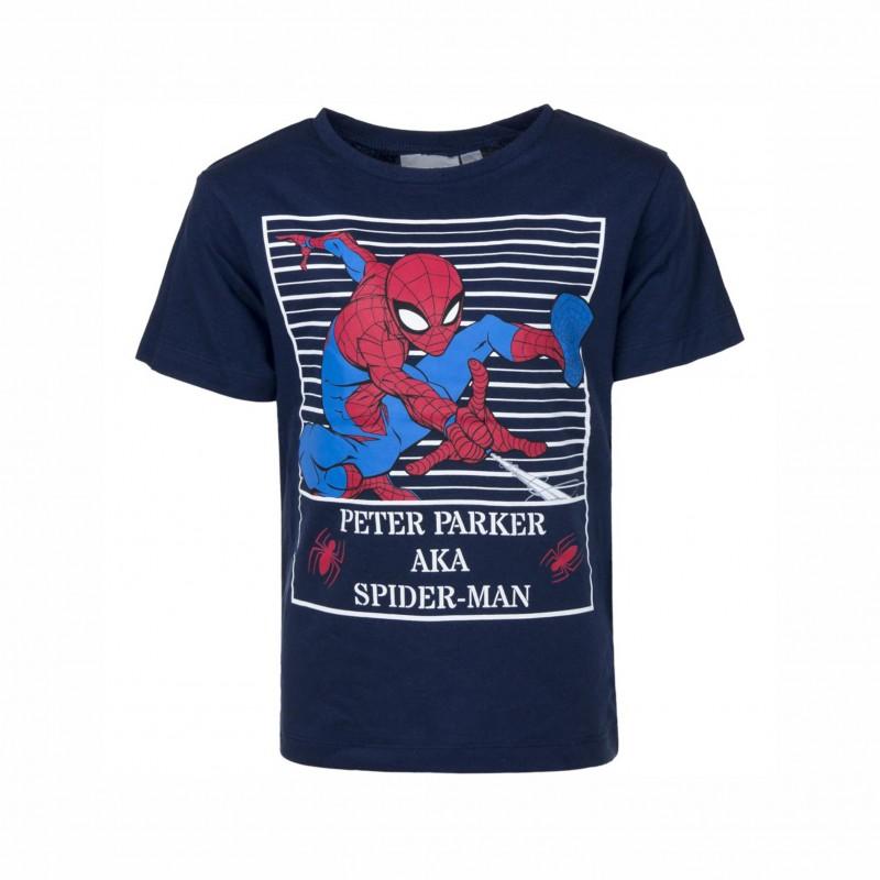 Детска тенискаSpiderman с къс ръкав за момчета. - ER1093 blue-98 - view 1