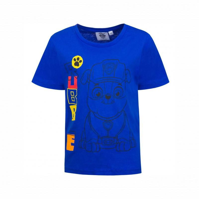 Детска тенискаPaw Patrol (Пес Патрул) с къс ръкав за момчета. - SE1326 blue-104 - view 1