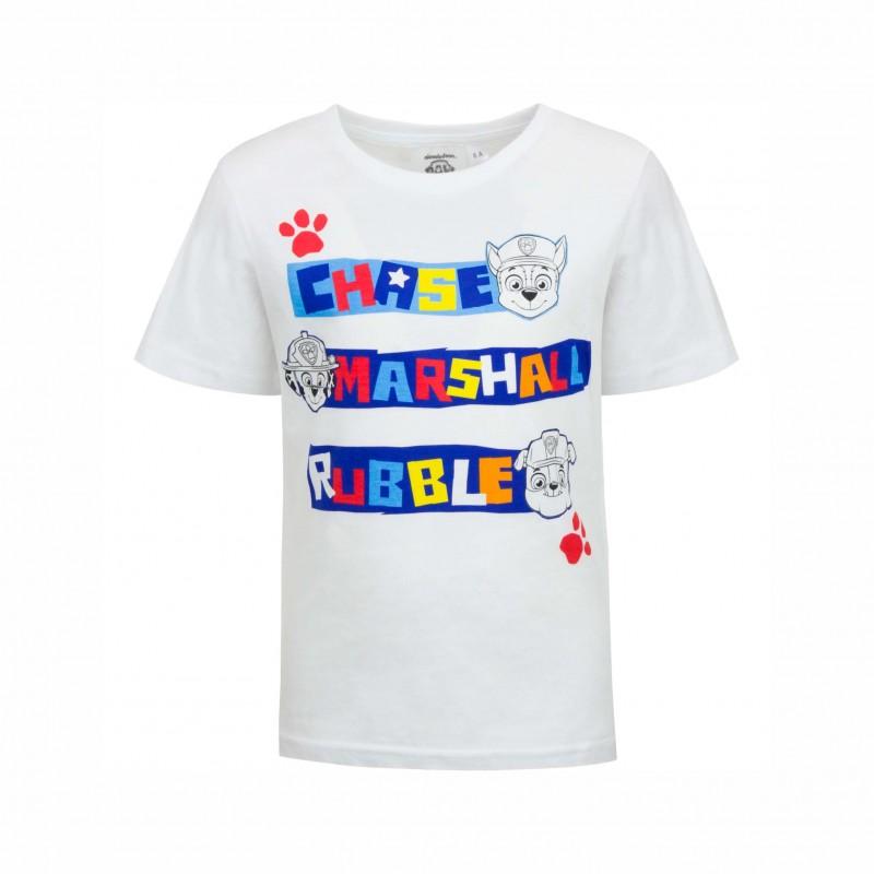 Детска тенискаPaw Patrol (Пес Патрул) с къс ръкав за момчета. - SE1326 white-116 - view 1