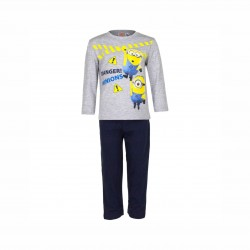 Пижама Minions с дълъг ръкав - EP2006 grey-116 - view 1