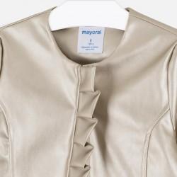 Сако Mayoral от изкуствена кожа с гладък дизайн за момиче. - 6457-051-140 - view 4
