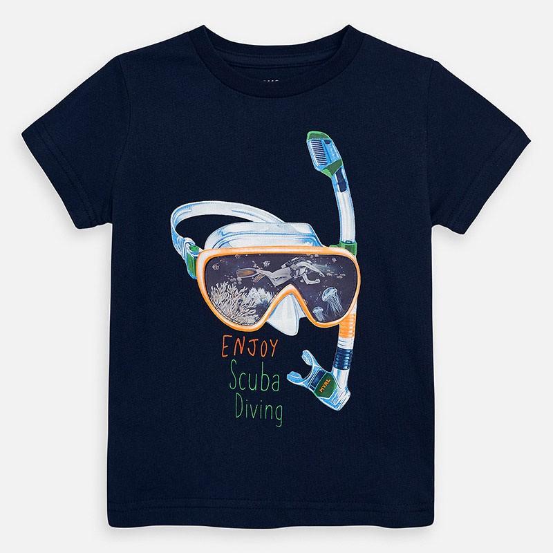 Тениска Mayoral с къс ръкав и рисунка шнорхел за момче. - 3070-068 - view 1