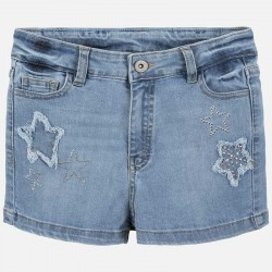 Къс дънков панталон Mayoral с апликации за момиче. - 6253-052-140 - view 2