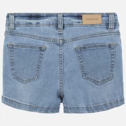 Къс дънков панталон Mayoral с апликации за момиче. - 6253-052-140 - view 3
