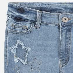 Къс дънков панталон Mayoral с апликации за момиче. - 6253-052-140 - view 4