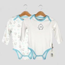 Бебешки комплект 2бр. бодитаOrganic Kidза момчета. - 10237-008-68 - view 1