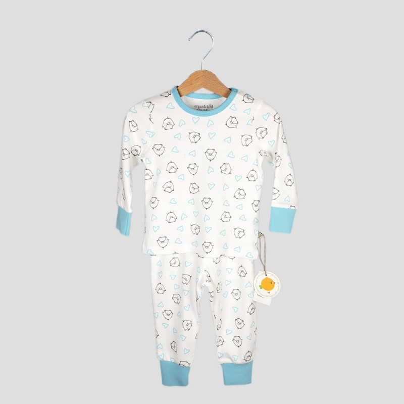 Бебешка пижамаOrganic Kid с дълъг ръкав с апликации за момчета. - 10008-044-62 - view 1