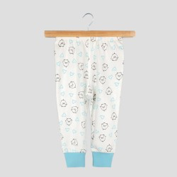 Бебешка пижамаOrganic Kid с дълъг ръкав с апликации за момчета. - 10008-044-62 - view 3