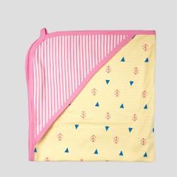 Бебешки комплект за изписванеOrganic Kid от 7 части в розово и жълто с апликации за момичета. - 10235-018 - view 6
