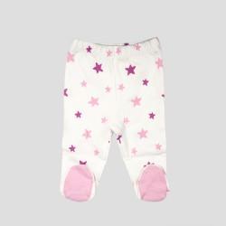 Бебешки комплект Organic Kid от 5 части вбяло, розово и лилавос апликации на звездички за момичета. - 10105-005 - view 4