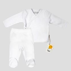Бебешки комплект Organic Kid от 5 части вбяло за момичета/момчета. - 10082-012 - view 2