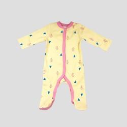 Бебешки комплект за изписванеOrganic Kid от 7 части в розово и жълто с апликации за момичета. - 10235-018 - view 3