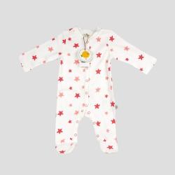 Бебешки комплект за изписванеOrganic Kid от 7 части с апликации на звездички за момичета. - 10235-002 - view 3