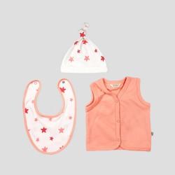 Бебешки комплект за изписванеOrganic Kid от 7 части с апликации на звездички за момичета. - 10235-002 - view 2