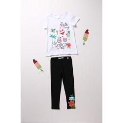 Комплект Boboli с тениска... - 412209-1100 - view 1