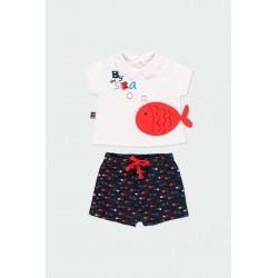 Комплект Boboli с тениска... - 122128-1100 - view 1