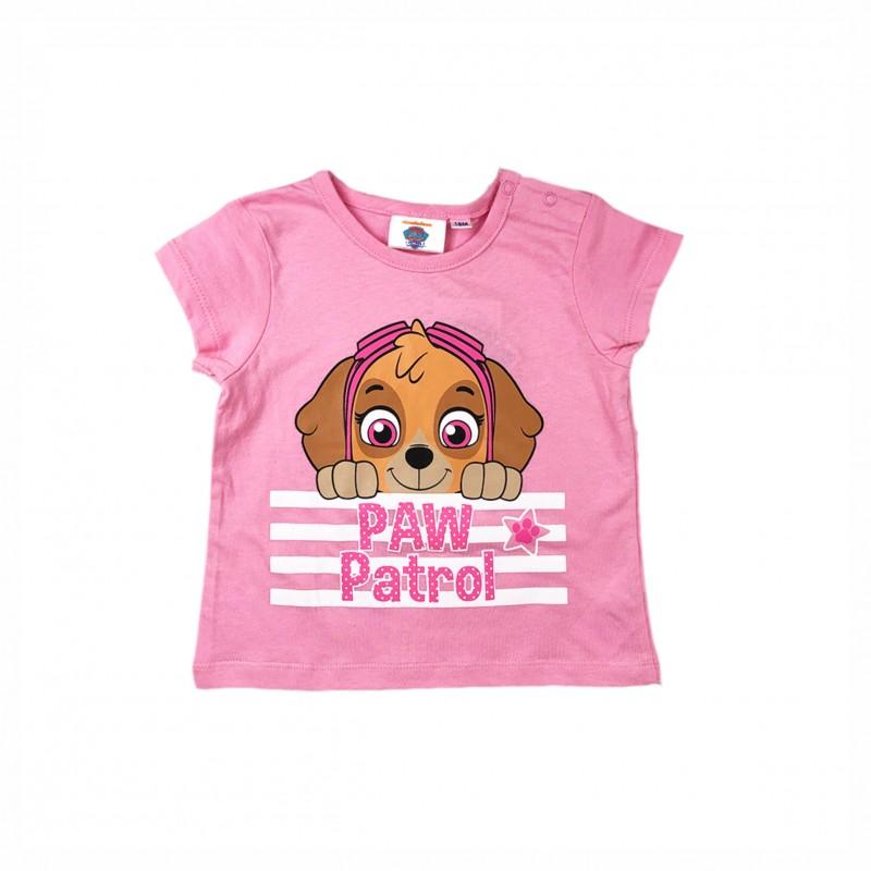 БебешкатенискаPaw Patrol (Пес Патрул) с къс ръкав за момичета. - ER0152 pink-68 - view 1