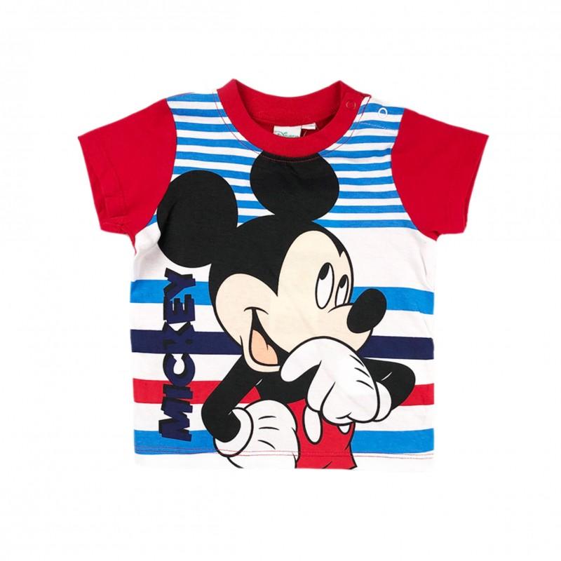 БебешкатенискаMickey Mouse (Мики Маус) с къс ръкав за момчета. - ER0158 red-68 - view 1