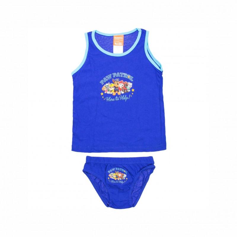 Детски комплект бельоPaw Patrol (Пес Патрул) за момчета. - DPH3116 dark blue-122 - view 1