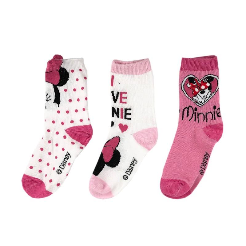 Комплект 3 чифта чорапиMinnie Mouse (Миnи Маус) за момичета. - SE0604-1-23 - view 1