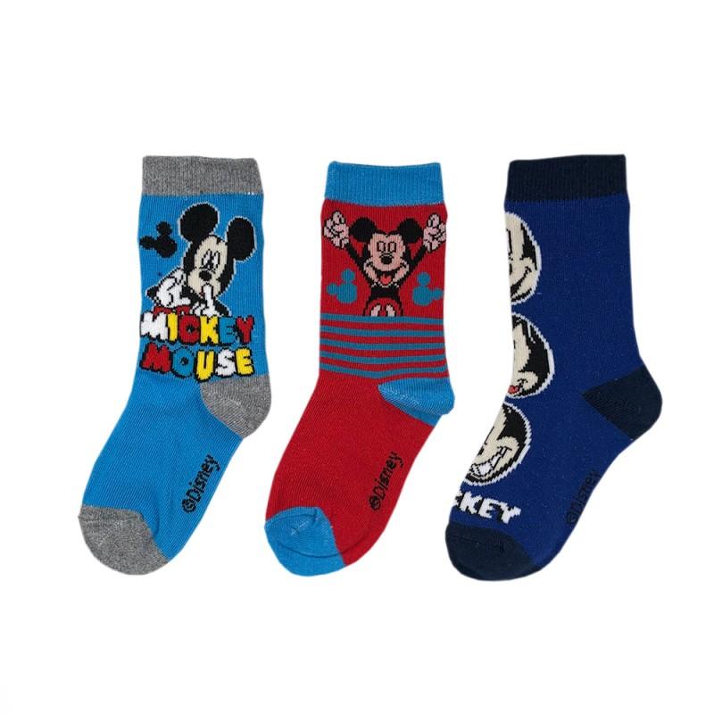Комплект 3 чифта чорапи Mickey Mouse (Мики Маус) за момчета. - RRH0663 blue-27 - view 1