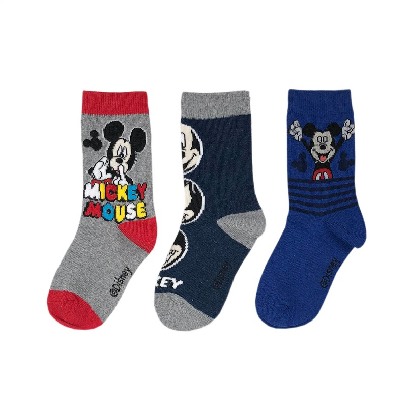 Комплект 3 чифта чорапи Mickey Mouse (Мики Маус) за момчета. - RRH0663 grey-27 - view 1