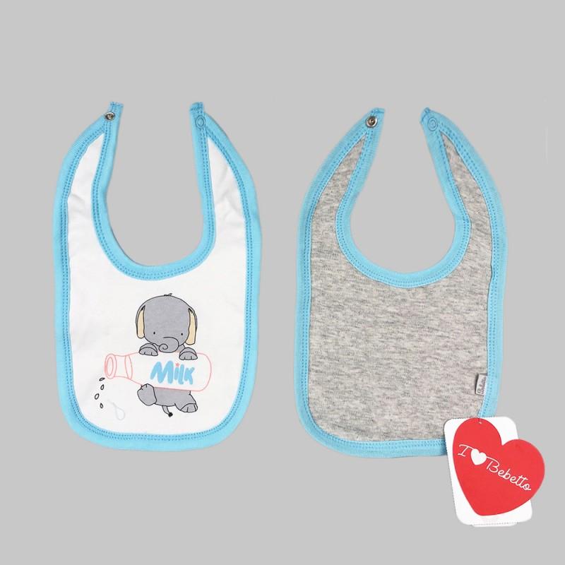 Бебешки комплект 2бр. лигавници Bebetto за момчета. - C691 blue - view 1
