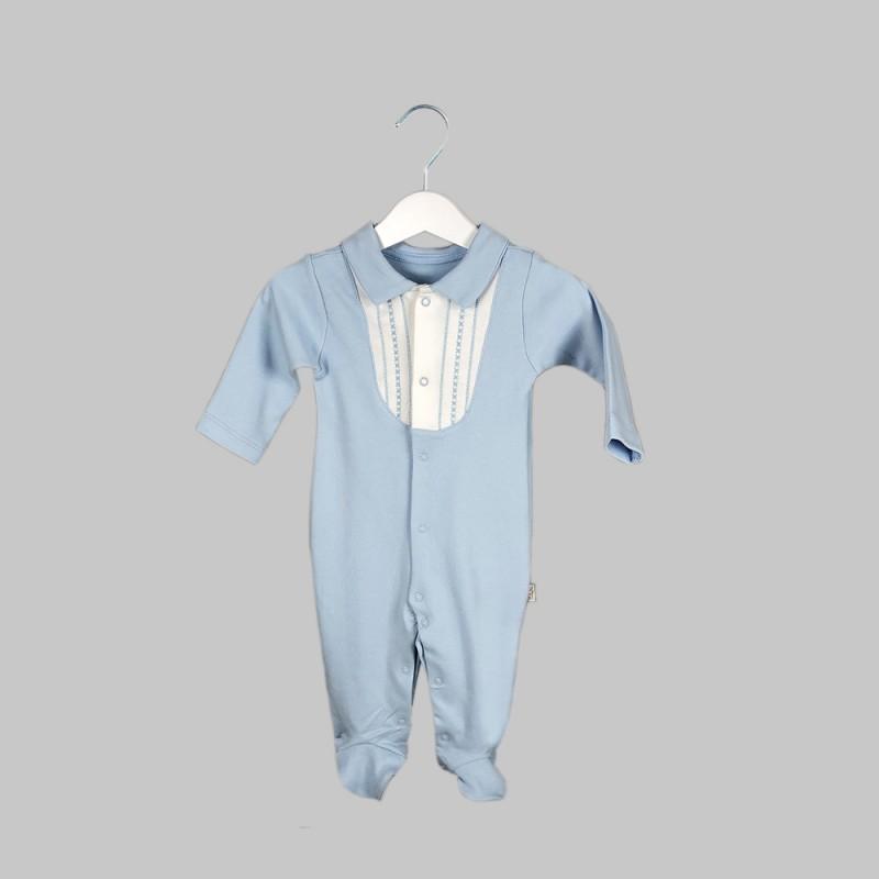 Бебешки гащеризонBebetto за момчета. - T1988 blue-68 - view 1