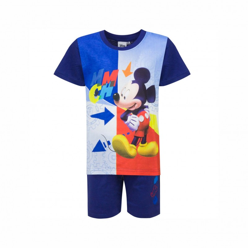 Детска пижамаMickey Mouse (Мики Маус)скъс ръкав и къси панталони за момчета. - 831-165 blue-122 - view 1