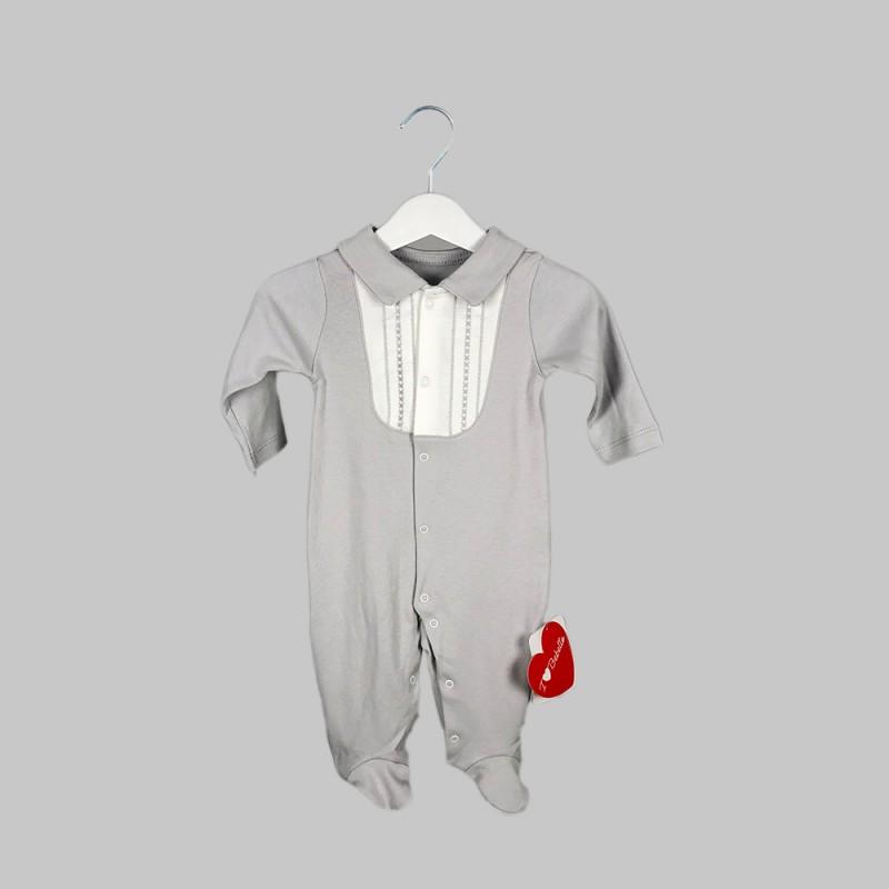 Бебешки гащеризонBebetto за момчета/момичета. - T1988 grey-68 - view 1