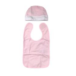 Бебешки комплектMinnie Mouse (Мини Маус) от 4 части за момичета - гащеризон, шапка, лигавник и подложка за преповиване. - ER0354 - view 3