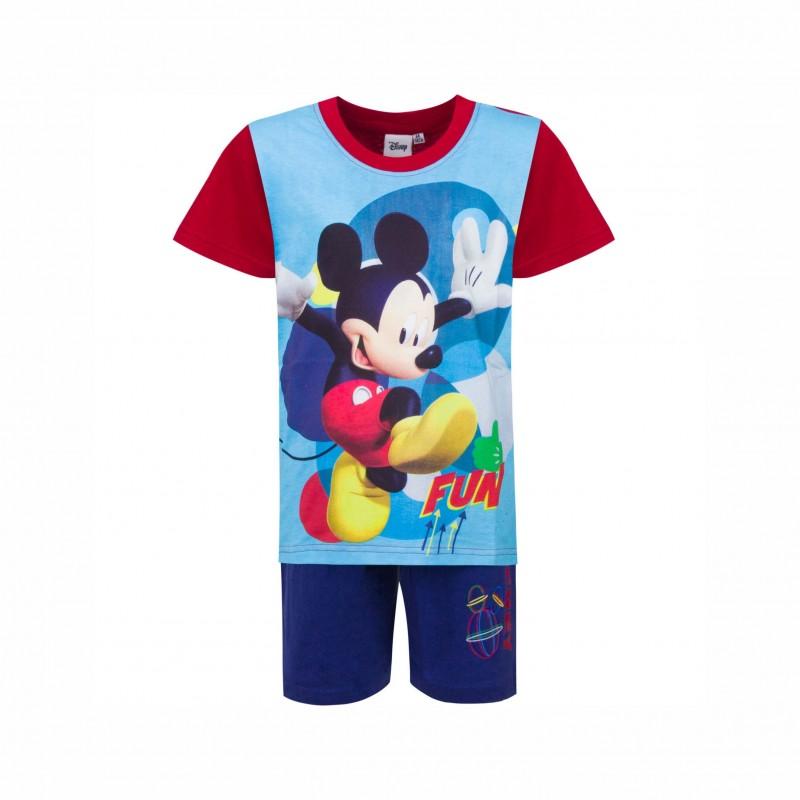 Детска пижамаMickey Mouse (Мики Маус)скъс ръкав и къси панталони за момчета. - 831-165 red-122 - view 1