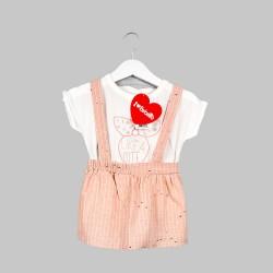 Комплект Bebetto с тениска... - K2455 pink-74 - view 1