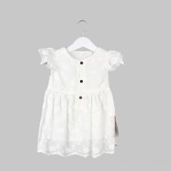 Бебешка рокля Bebetto с бродерия и гащички за момичета. - K2573-68 - view 2