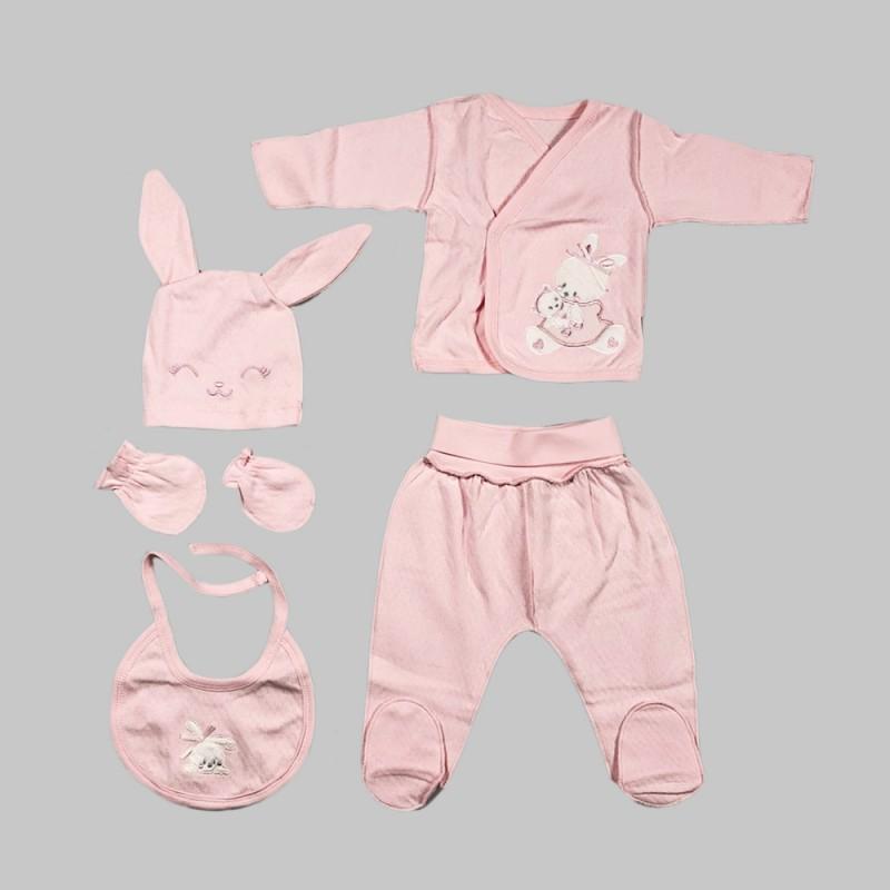 Бебешки комплект Bebetto от 5 части в розово за момичета. - Z667 - view 1