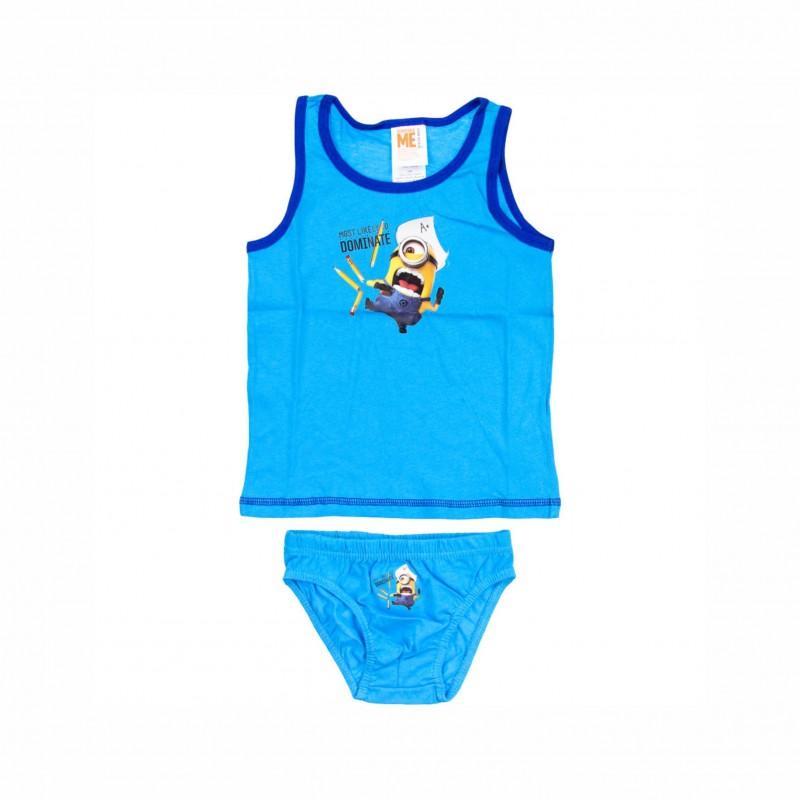 Детски комплект бельоMinions (Миньоните) за момчета. - EP3018 blue-110 - view 1