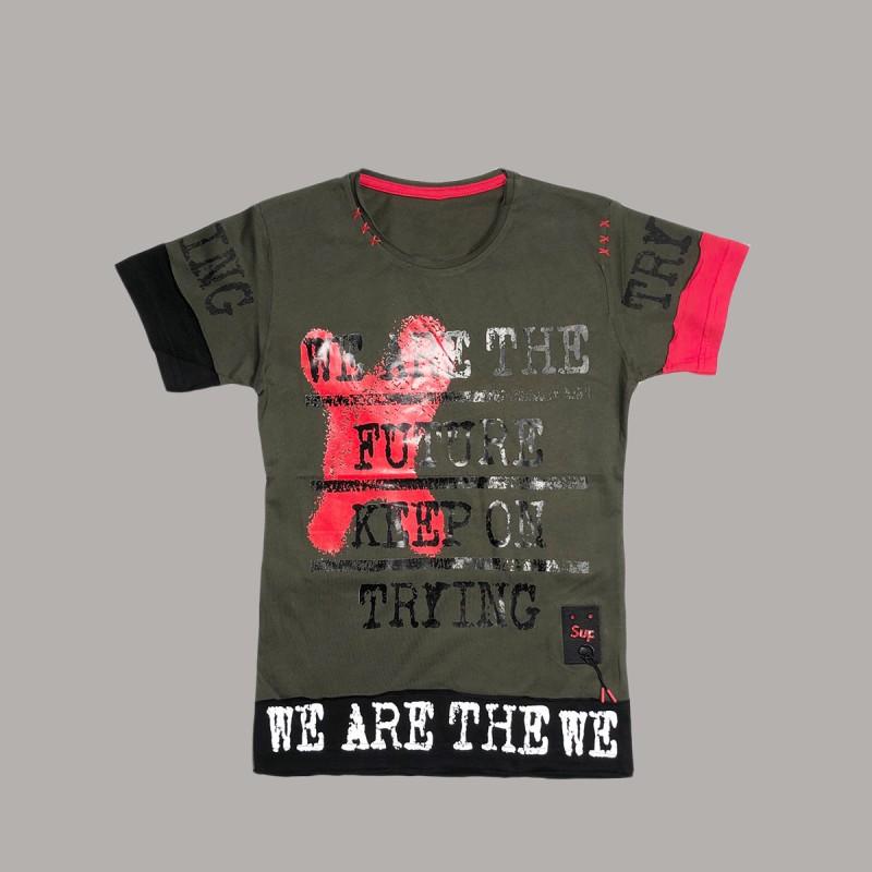 Детска тениска Keiki с къс ръкав за момчета. - 51325-040-140 - view 1