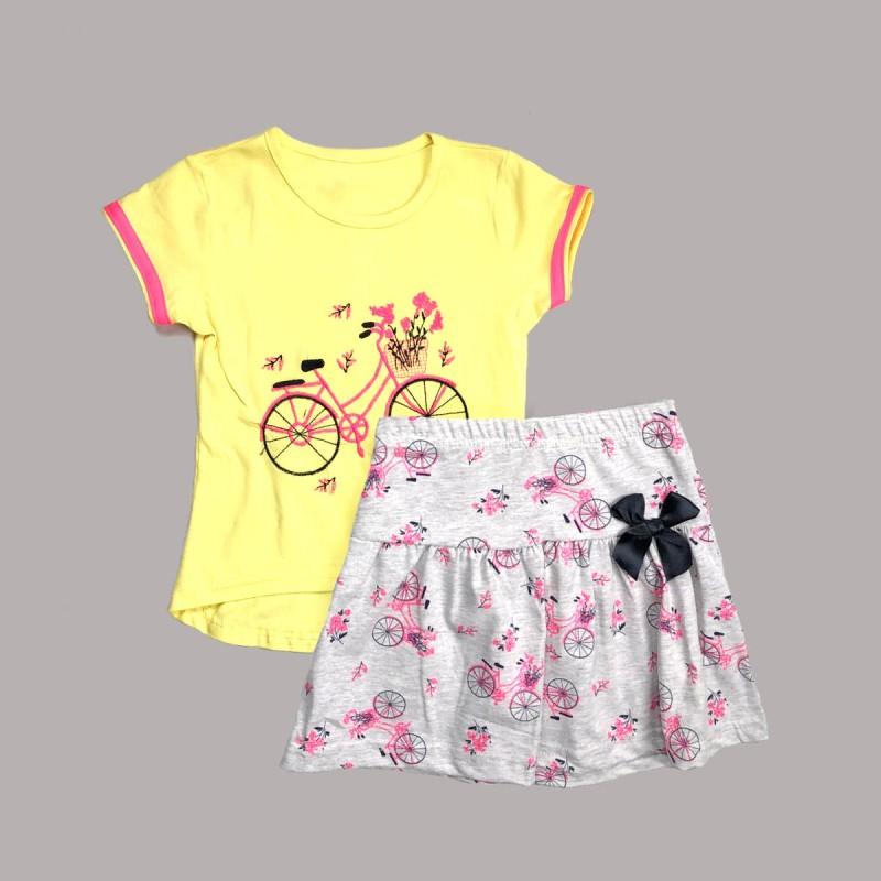 Детски комплект Keiki с тениска къс ръкав и пола за момичета. - 51440-009 - view 1
