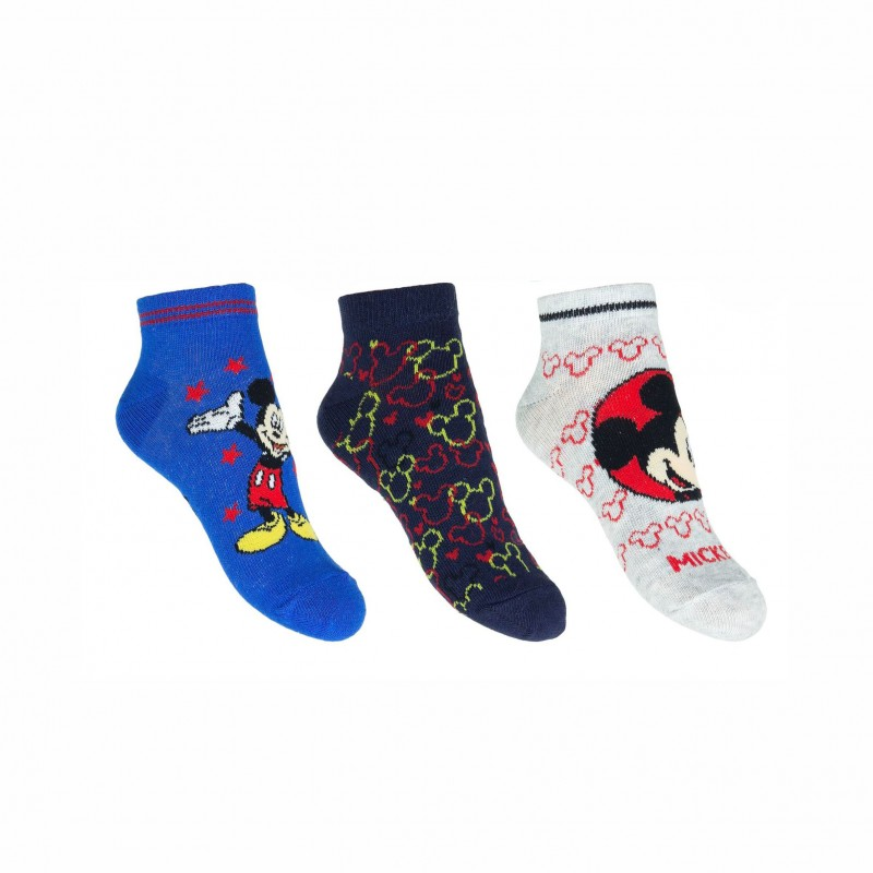Комплект 3 чифта чорапи Mickey Mouse (Мики Маус) за момчета. - ER0680 light blue-23 - view 1